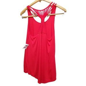 NWT Charlotte Russe Red Racer Back String Top